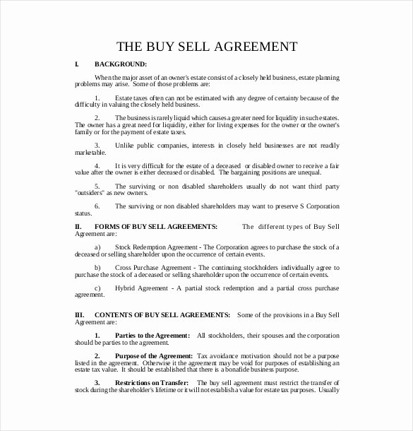 22 Buy Sell Agreement Templates Pages Docs