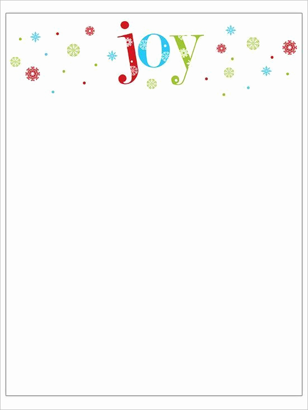 22 Christmas Stationery Templates Free Word Paper Designs