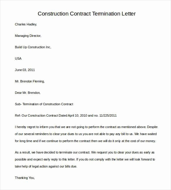 22 Contract Termination Letter Templates Pdf Doc