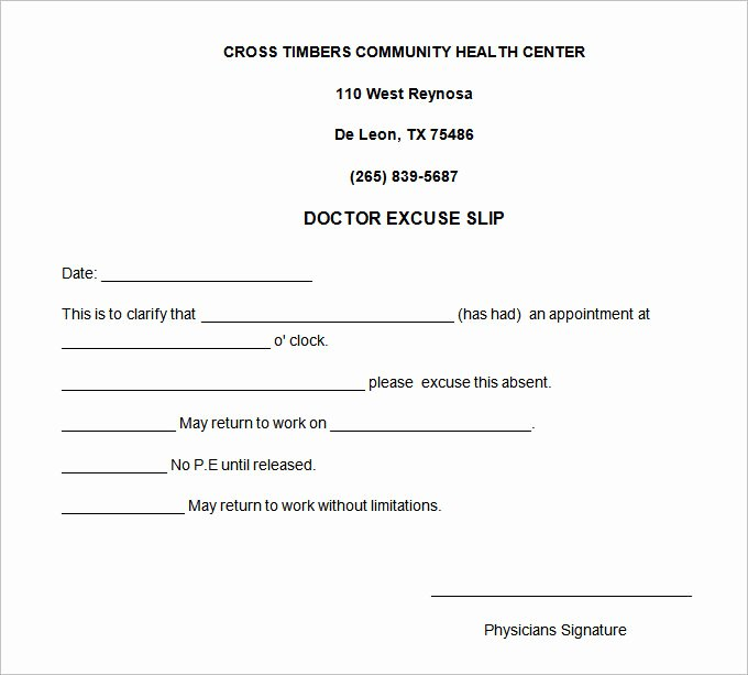 22 Doctors Note Templates Free Sample Example format