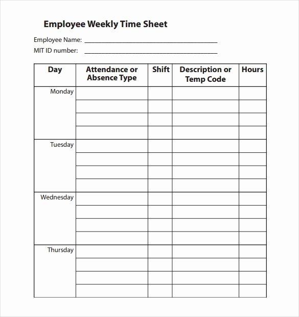 22 Employee Timesheet Templates – Free Sample Example