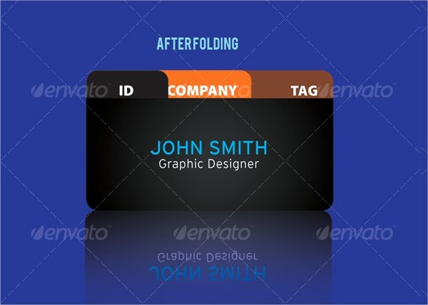 22 Folded Business Cards Psd Ai Vector Eps