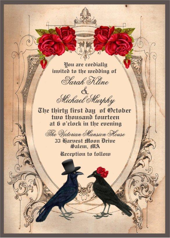 22 Halloween Wedding Invitation Templates – Free Sample