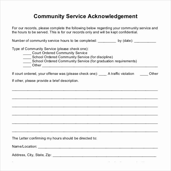 22 Munity Service Letters to Download for Free