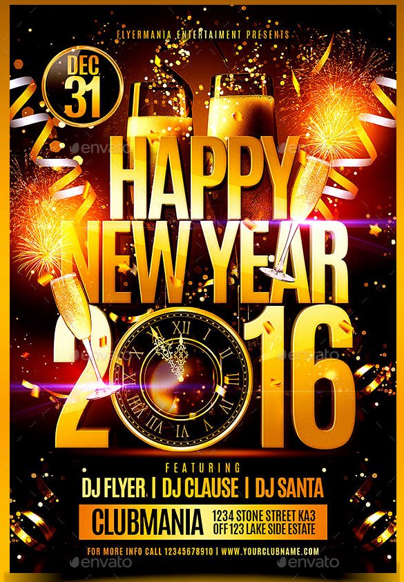 22 New Year Flyer Templates Psd Eps Indesign Word