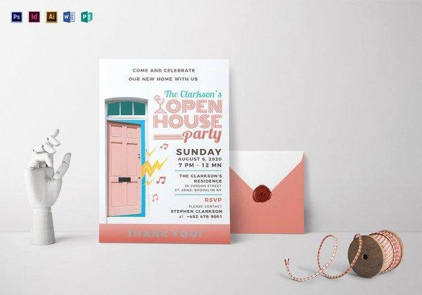 22 Open House Invitation Templates – Free Sample Example