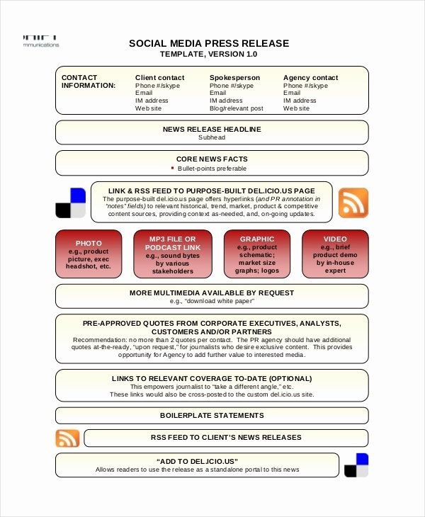 22 Press Release Template Free Sample Example format