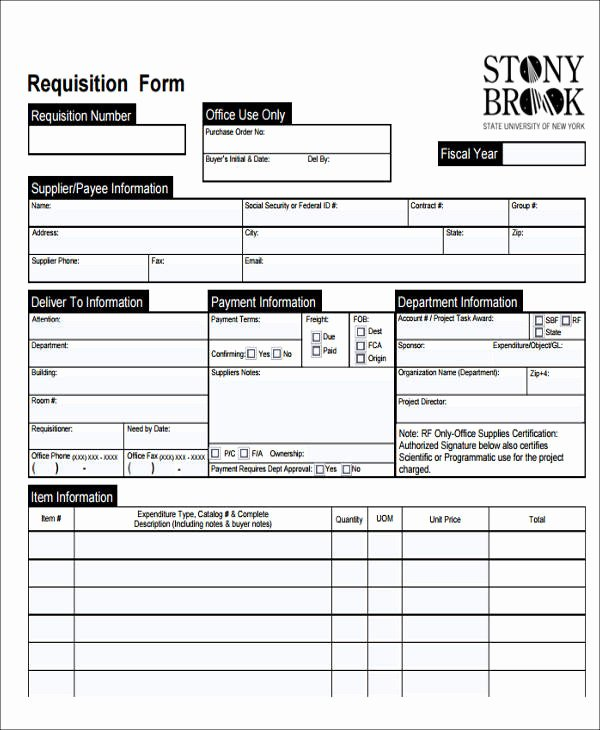 22 Requisition form Samples