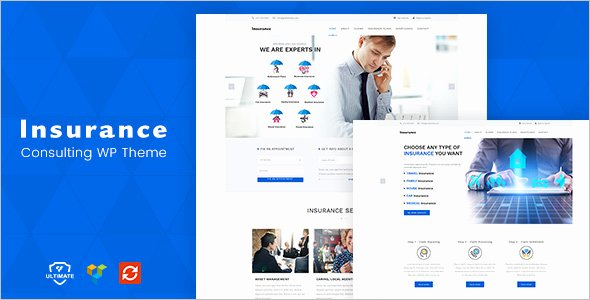 22 Responsive Insurance Website themes Free Templates