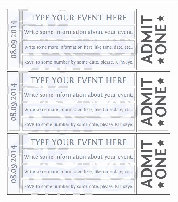 22 Sample Amazing event Ticket Templates to Download