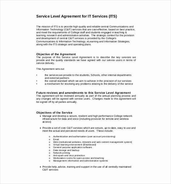 22 Service Agreement Templates Word Pdf