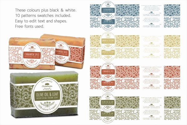 22 soap Label Designs Psd Vector Eps Jpg Download