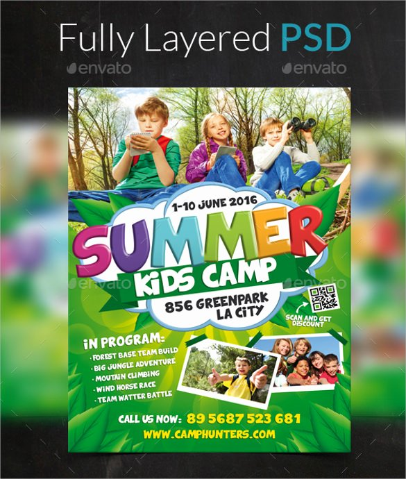 22 Summer Camp Flyer Templates