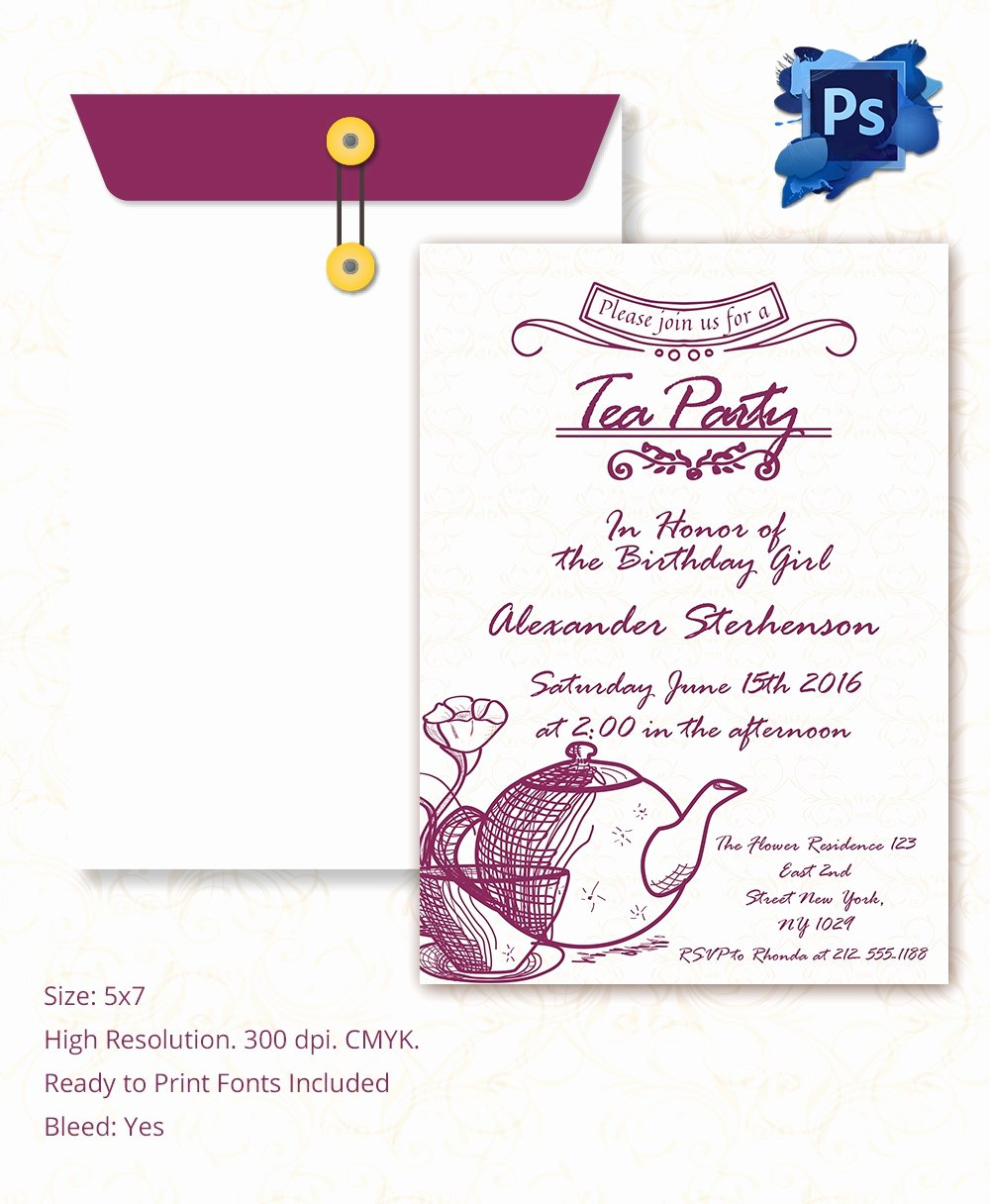 22 Tea Party Invitation Templates