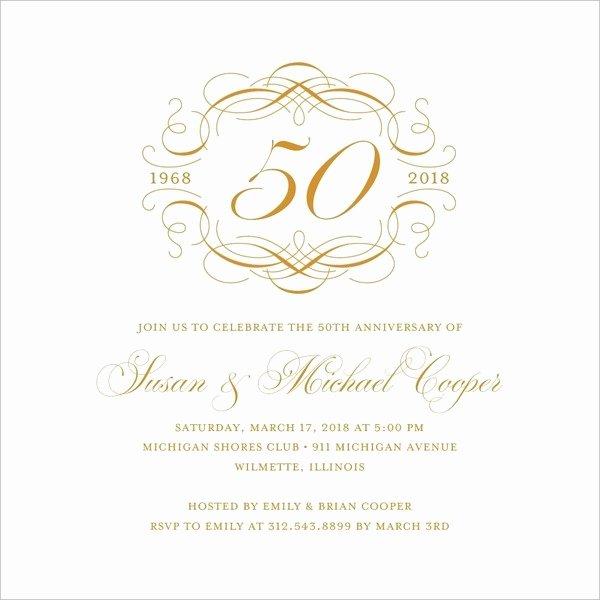 22 Wedding Anniversary Invitation Card Templates Word