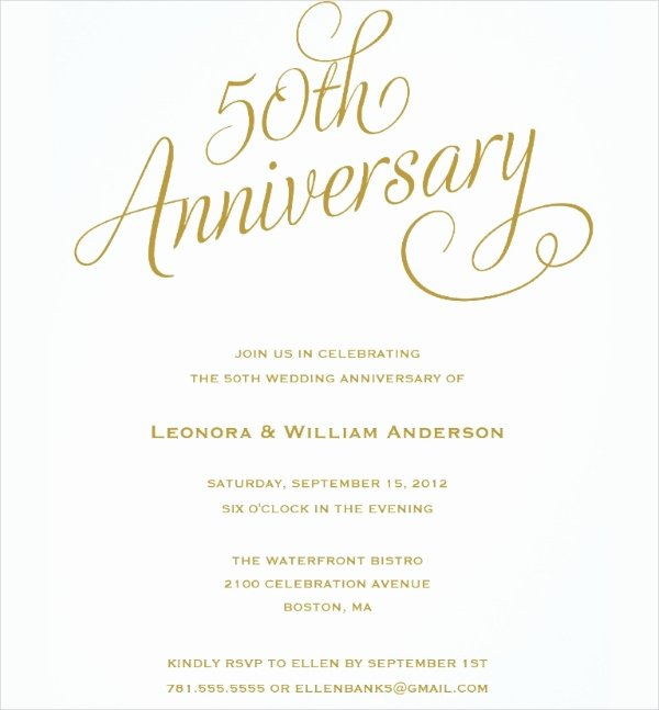 22 Wedding Anniversary Invitation Card Templates Word