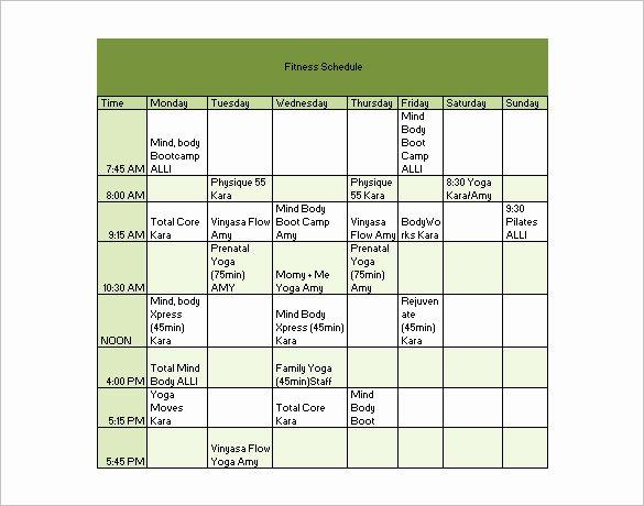 22 Workout Schedule Templates Pdf Doc