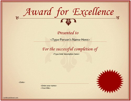 23 Best Award Certificate Templates