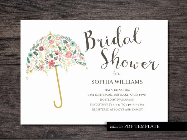 23 Bridal Shower Invitation Templates Free Psd Vector