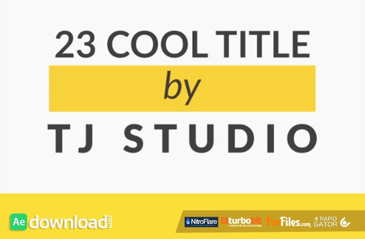 23 Cool Title Animations Videohive Free Download