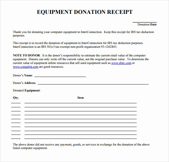 23 Donation Receipt Templates – Pdf Word Excel Pages