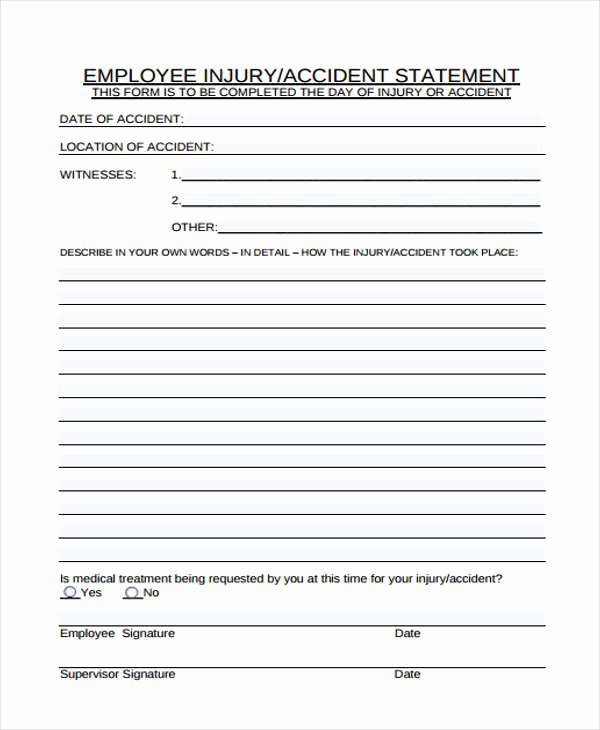 23 Employee Statement form Template