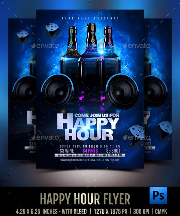 23 Happy Hour Flyer Templates Psd Vector Eps Jpg