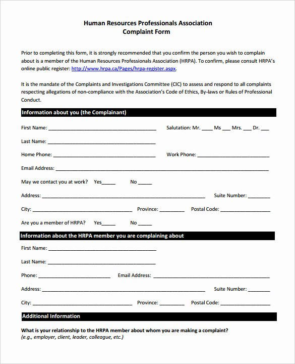 23 Hr Plaint forms Free Sample Example format