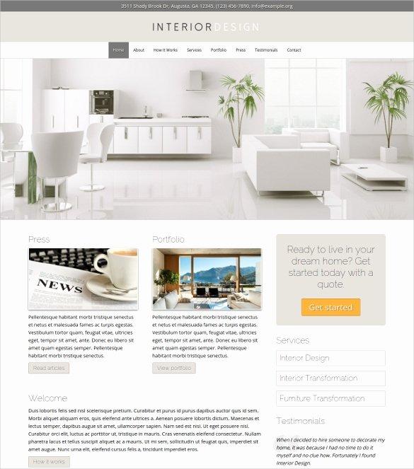 23 Interior Design Website themes & Templates