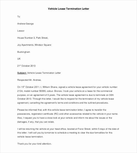 23 Lease Termination Letter Templates Pdf Doc