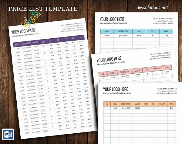 23 Printable Price List Templates Free & Premium Download