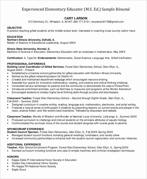 23 Professional Teacher Resume Templates Pdf Doc