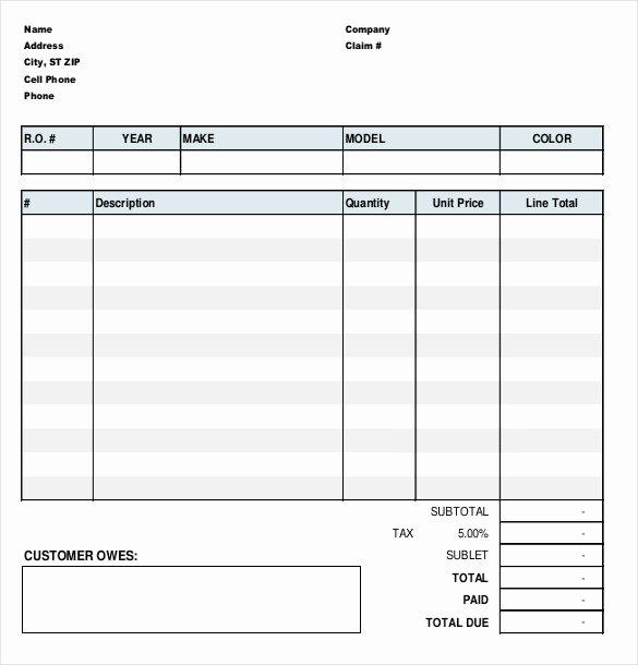 23 Repair order Templates – Free Sample Example format