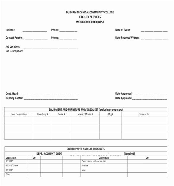 23 Work order Templates Pdf Doc