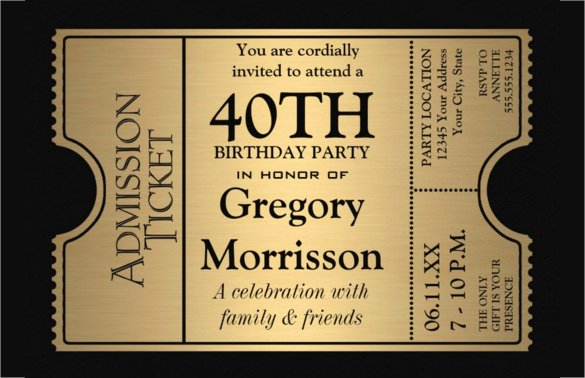 24 40th Birthday Invitation Templates – Psd Ai