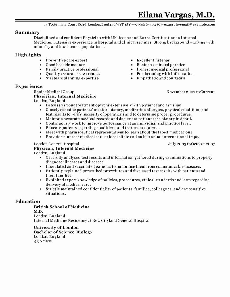 24 Amazing Medical Resume Examples