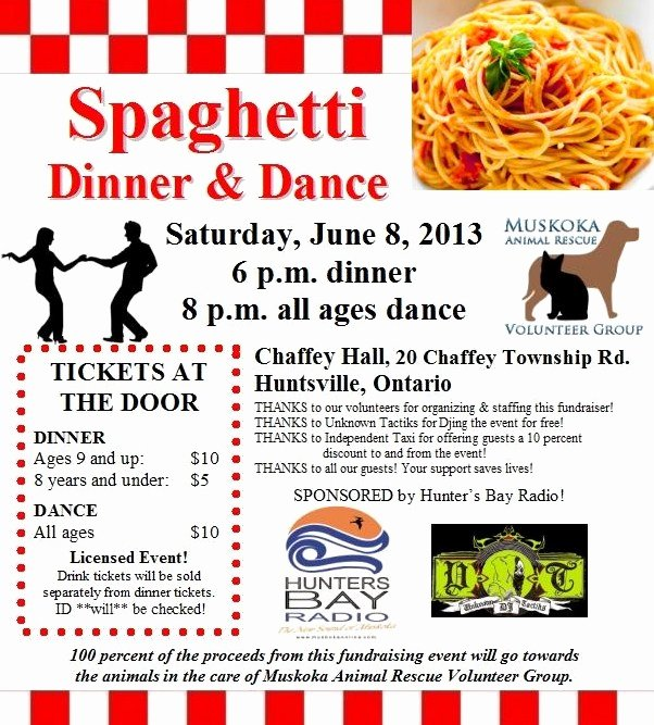 24 Best Spaghetti Dinner Fundraiser Images On Pinterest