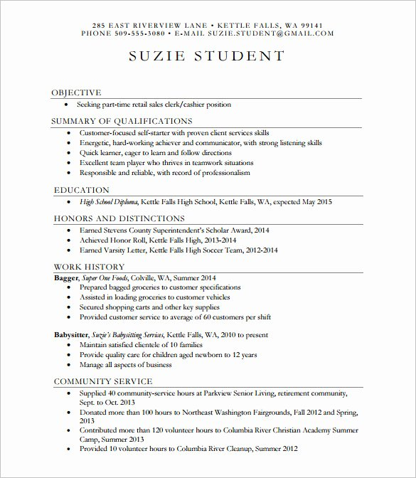 24 Best Student Sample Resume Templates Wisestep