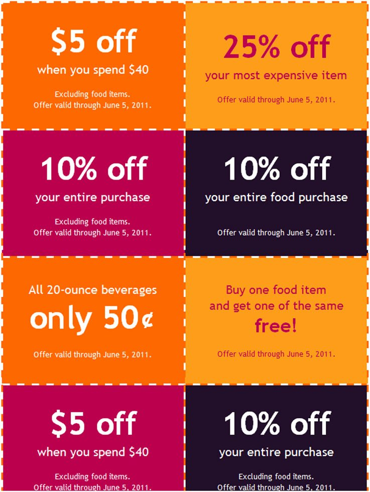24 Coupon Book Templates Free Psd Vector Eps Word