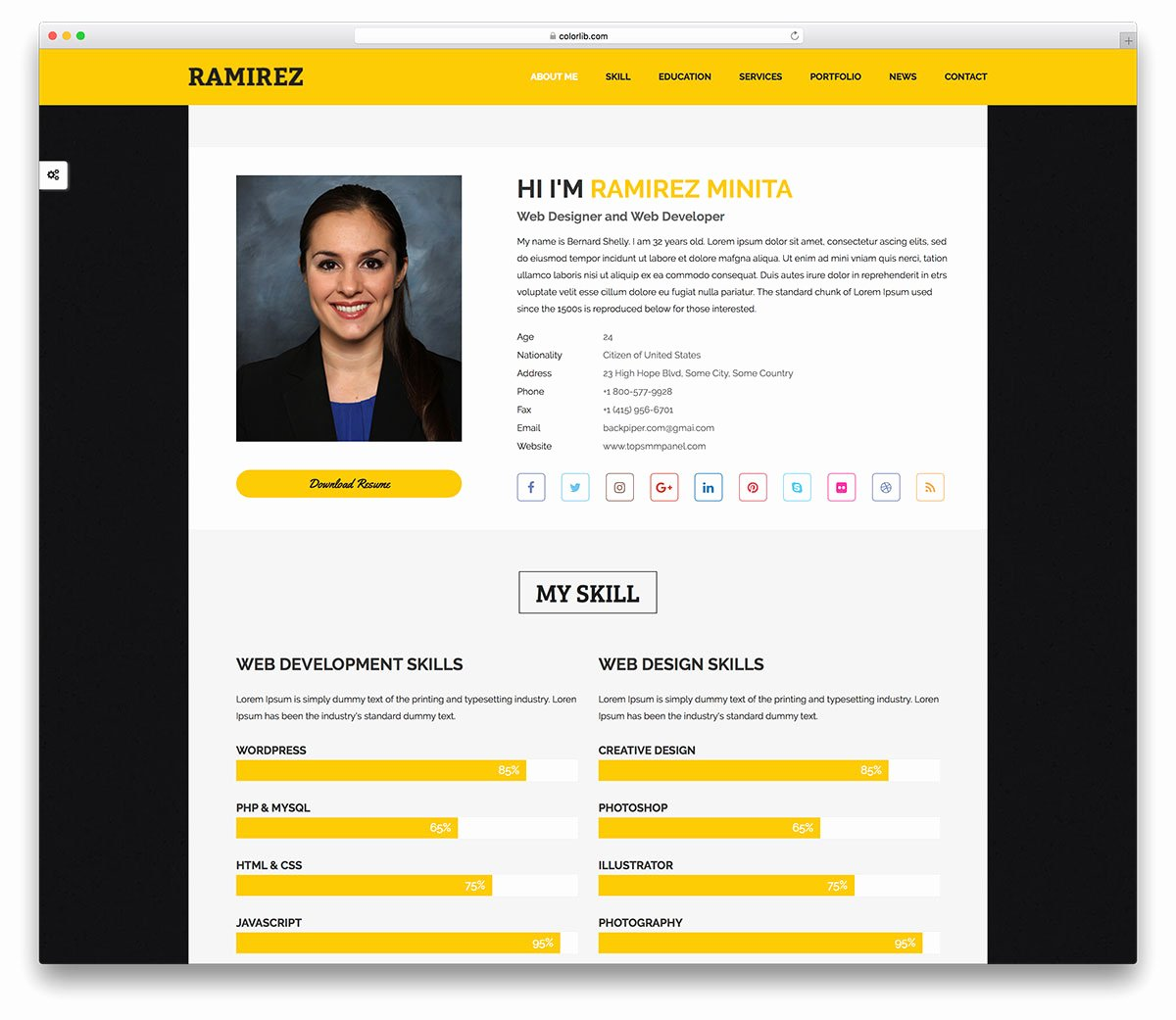 24 Free Personal Website Templates to Boost Your Brand