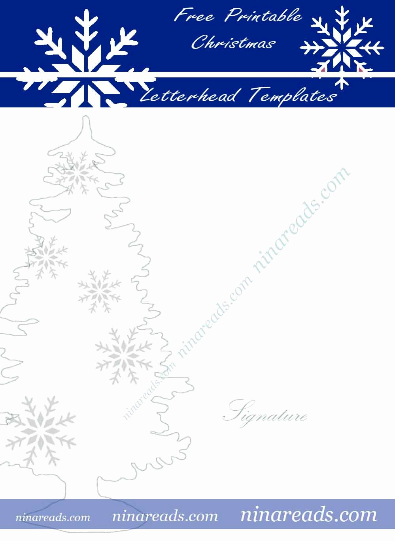 24 Free Printable Christmas Letterhead Templates