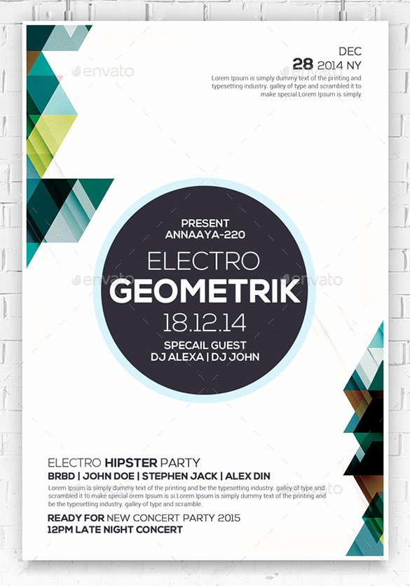 24 Geometric Flyer Templates – Free Psd Eps Ai