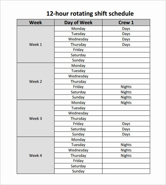 24 Hour Shift Schedule Template Download Templates