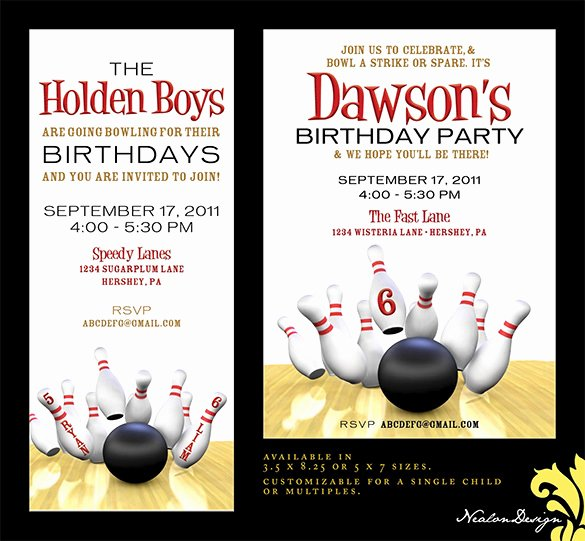 24 Outstanding Bowling Invitation Templates & Designs