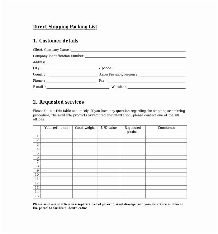 24 Packing List Templates Pdf Doc Excel