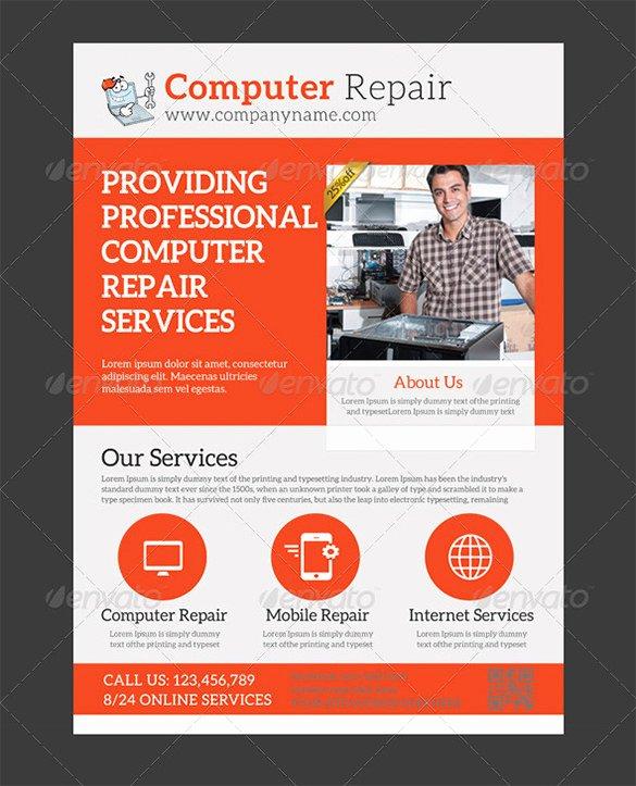 24 Puter Repair Flyer Templates Psd Ai Eps format
