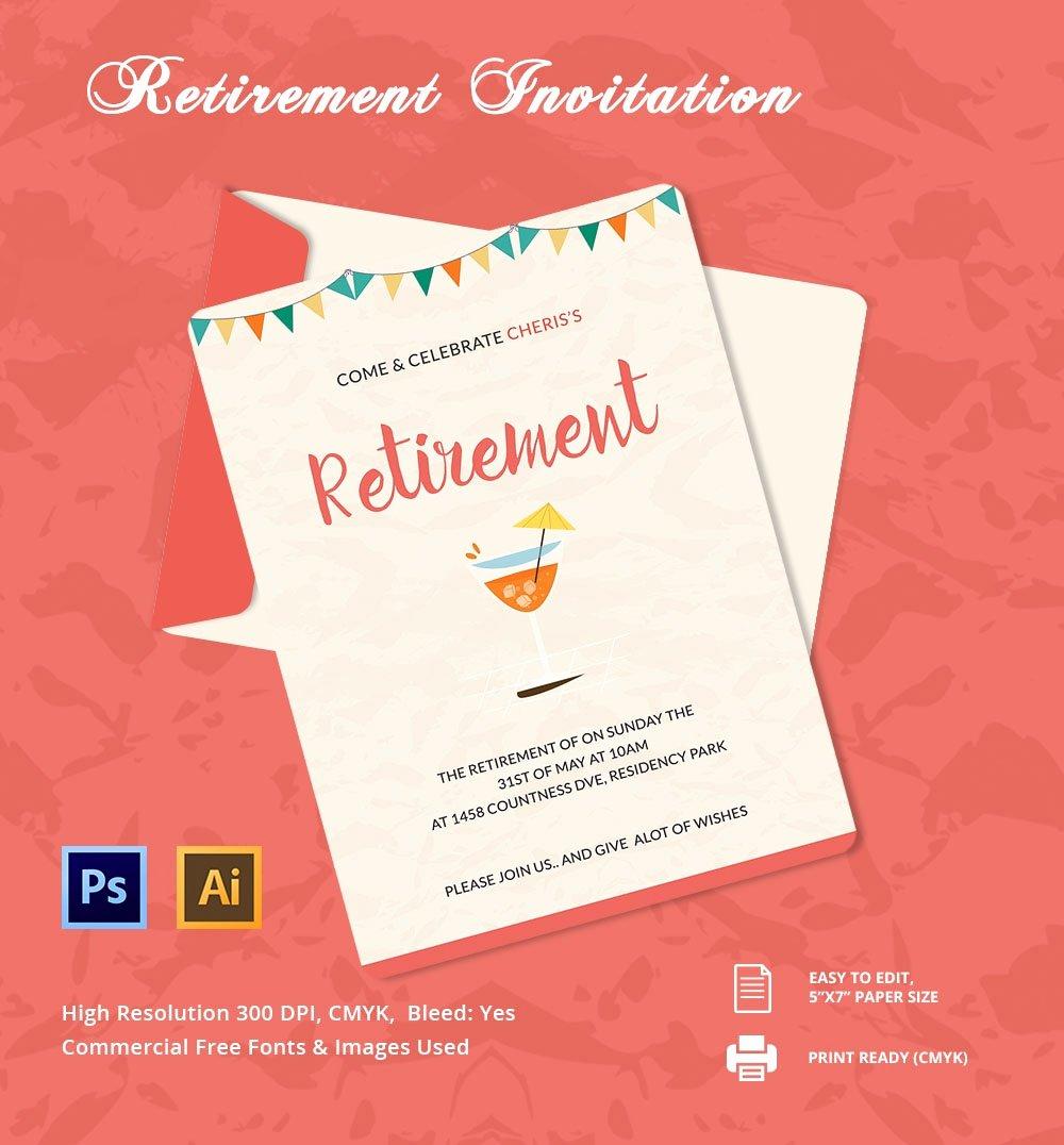 24 Retirement Invitation Template Psd Vector Eps Ai