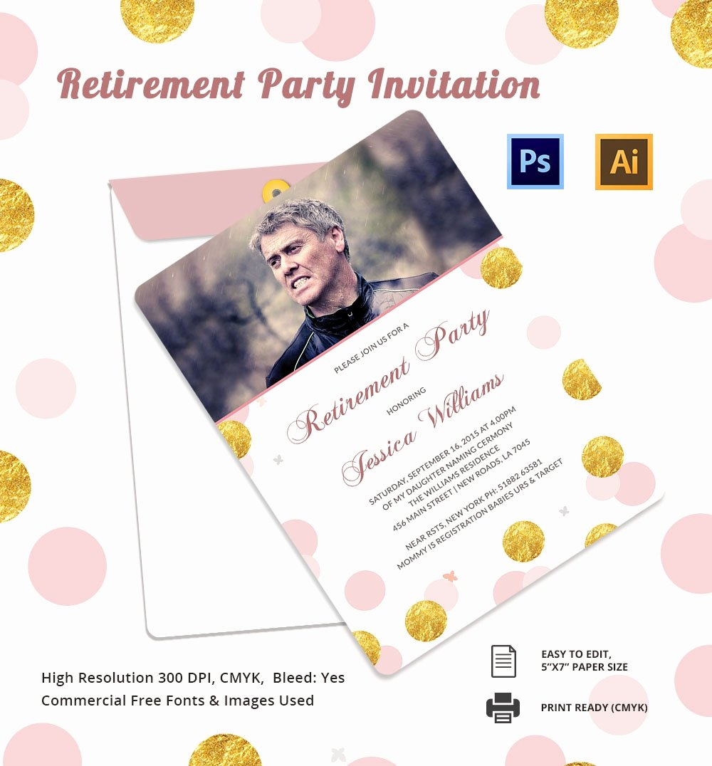 24 Retirement Invitation Template Psd Vector Eps Ai