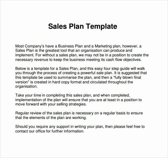 24 Sales Plan Templates – Pdf Rtf Ppt Word Excel