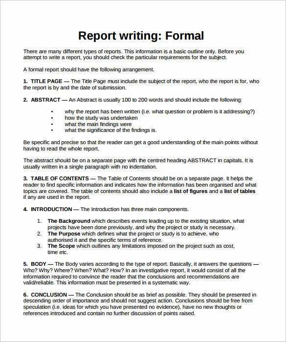 24 Sample formal Reports